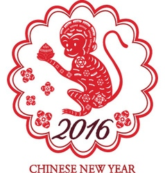 2016 lunar new year of monkeychinese new yearmon vector