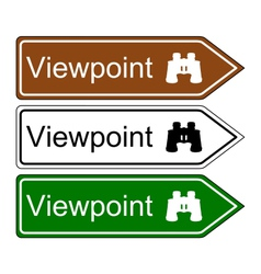 Direction sign viewpoint vector