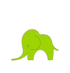 Cartoon child of elephant isolated vector