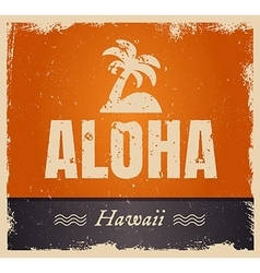 Aloha word in vintage colors retro vector