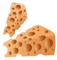 cheesy slice2 vector image