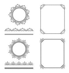Pattern brushes set 2 vector