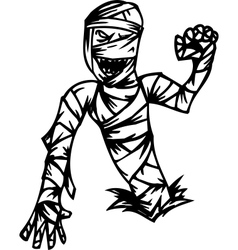 mummy - halloween set - vector image