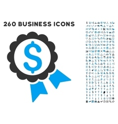 Featured price label icon with flat set vector