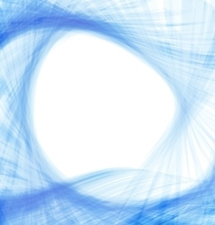Blue abstract wave techno background vector