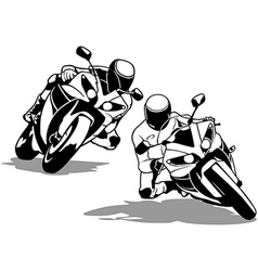 Motorcycle biker set vector