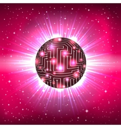 Abstract Sphere of Electronic Circuitry vector image vector image