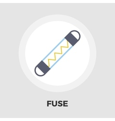 Automotive fuse flat icon vector