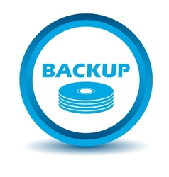 Blue backup icon vector