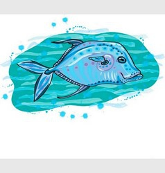bluefish vector image