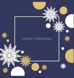 christmas background with gold and white vector image vector image