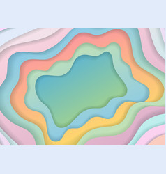 colored paper cut abstract vector image vector image