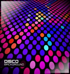 disco spot background vector image vector image