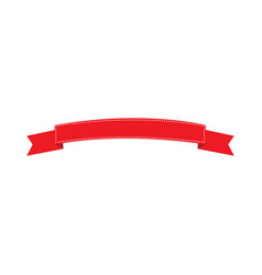 empty red ribbon vector image