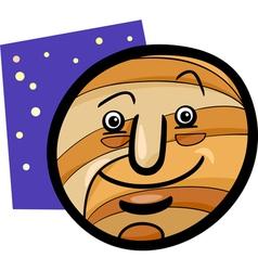 Funny jupiter planet cartoon vector