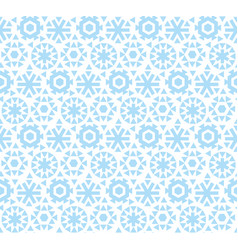 Geometric flat snowflake seamless pattern vector