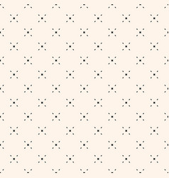 geometric seamless pattern with tiny diamond vector image vector image