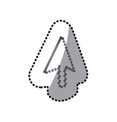 Grayscale pixel cursor con vector