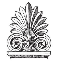 Greek sepulchral stele-crest borders vintage vector