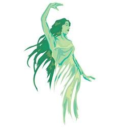Green fairy vector image