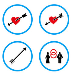 Love arrow rounded icons vector