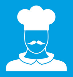 male chef cook icon white vector image vector image