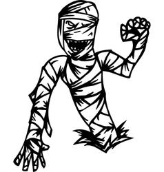 mummy - halloween set - vector image