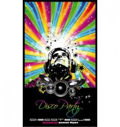 Music disco flyer vector