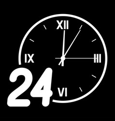 number 24 on the background of the dial vector image vector image