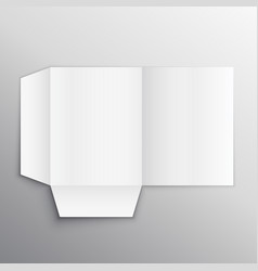 Paper folder mockup design template vector