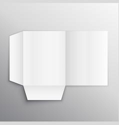 paper folder mockup design template vector image vector image