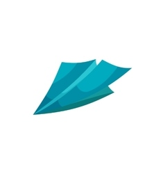Paper plane icon cartoon style vector image