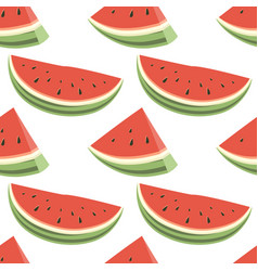 seamless pattern of watermelons vector image