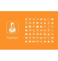 Set of fashion simple icons vector