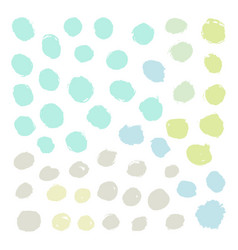 set of grunge paint rounds vector image vector image