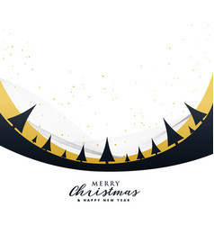 stylish merry christmas poster design with trees vector image