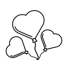 pictogram three balloons form heart design vector image