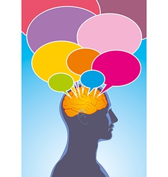 Human thoughts vector image