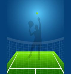 sport background tennis man vector image