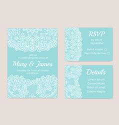 Wedding cards set vector
