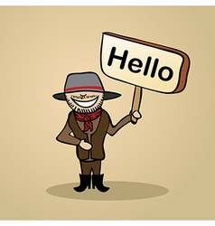 Hello from australia people vector image