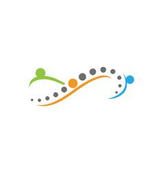 Infinity spine diagnostics symbol design vector