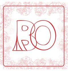 BO monogram vector image