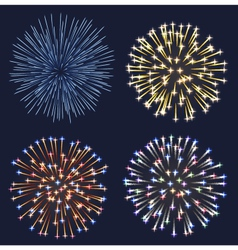 Set of fireworks vector