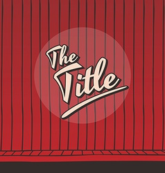Live stage red curtain vector