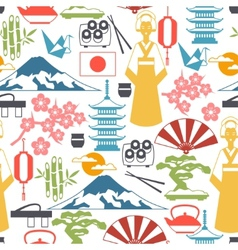 Japan seamless pattern vector image