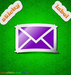 Mail envelope message icon sign symbol chic vector
