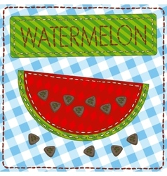 Funny patchwork with watermelon and buttons vector