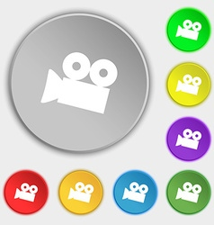 Video camera sign icon content button symbols on vector