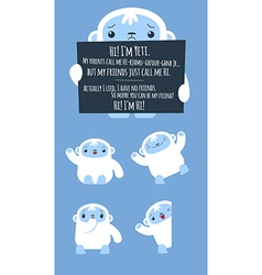 Cute yeti set vector